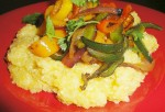 Gluten-Free Peperonata on Soft Polenta