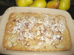 Pear Cobbler is quick, easy, and delicious.