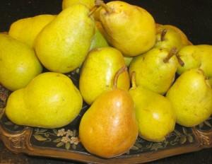 Fall pears make easy gluten-free cobbler.