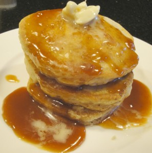 Boiled apple cider is delicious on gluten-free pancakes.