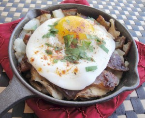 Gluten-free hash is a great way to use leftovers.