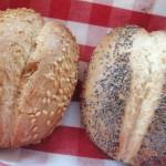 Gluten-free rolls in Swiss hotel