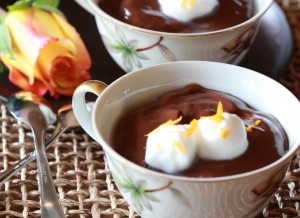Chocolate-Orange Mousse is the perfect romantic dessert.