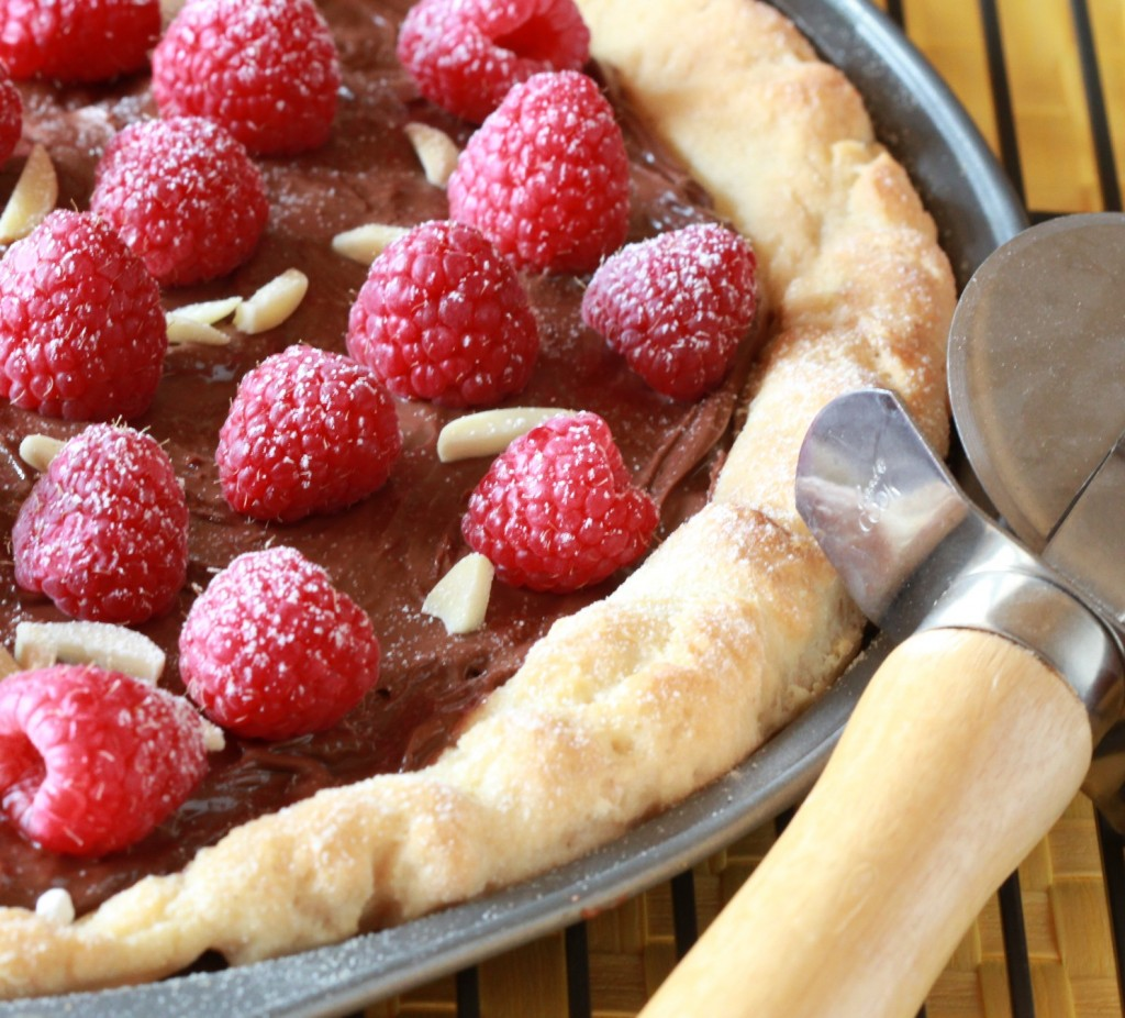 Chocolate Berry Pizza is perfect for special, gluten-free breakfast.