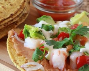 Gluten-Free Shrimp Tostadas