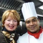 Chef George with Carol