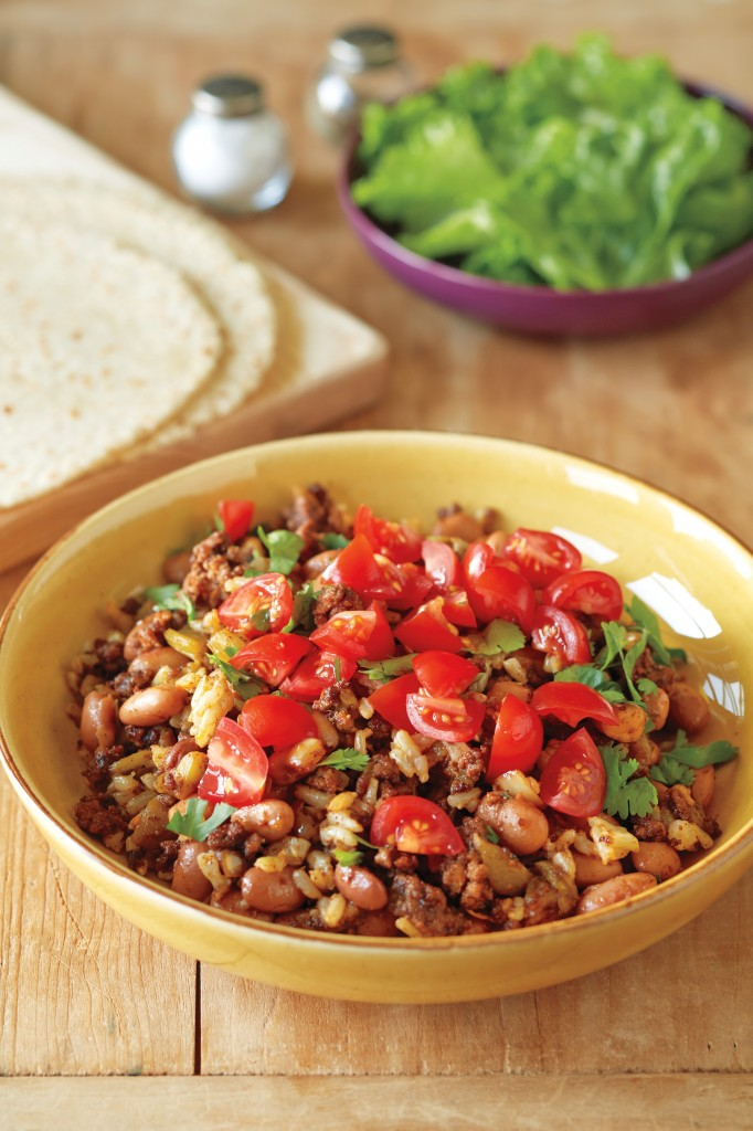 Mexican Skillet Beef and Rice from 100 Best Quick Gluten-Free Recipes; Photo by Jason Wyche