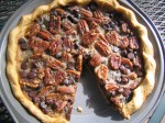 Gluten-free Pecan Pie jazzed up with Bourbon and Chocolate