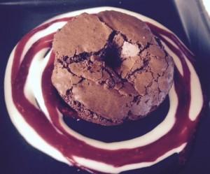 Warm Gluten-Free Brownie