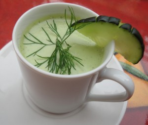Dilled Cucumber Apple Soup