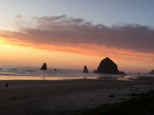 Sunset on Oregon Coast