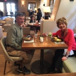 Larry & Carol at Inn of the Anasazi Restaurant.