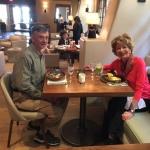 Larry & Carol at Inn of the Anasazi Restaurant.