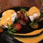Applewood-Smoked Ham Benedict with Chipotle Hollandaise Sance