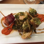 Brussels Sprouts and Bacon-Wrapped Dates