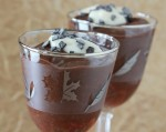 Chocolate Mousse using aquafaba, the liquid from canned chickpeas.