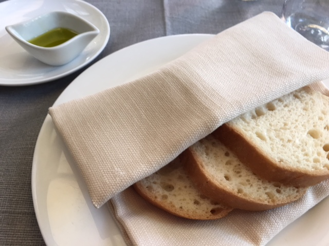 GF Bread at Grand Hotel Palace in Rome