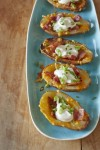 Loaded Potato Skins. Photo by Tom Hirschfeld.