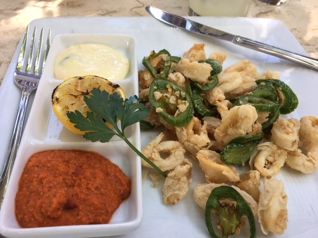 Fried Calamari at La Casa Sena
