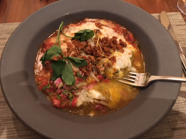 Huevos Rancheros at Inn of the Anasazi