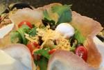 Gluten-free flour tortillas make crispy tortilla shell salads.