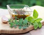 Chimichurri made from fresh herbs.